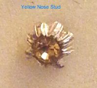 Yellow Flower Nose Stud